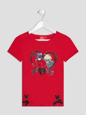 T shirt Miraculous Ladybyg rouge fille