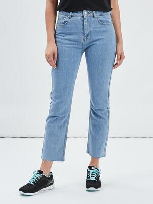 Jeans straight 78eme denim triple stone femme