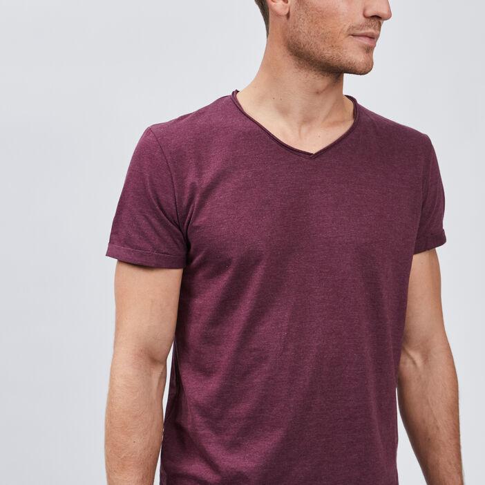 T-shirt manches courtes homme violet