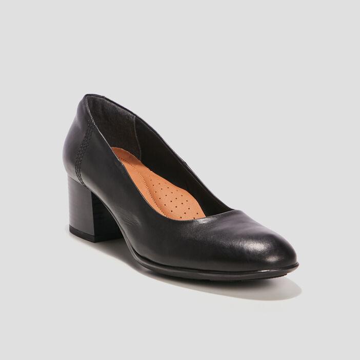 Escarpins en cuir femme noir