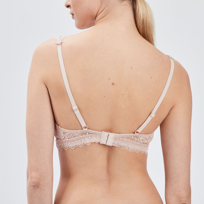 Soutien-gorge triangle foulard femme rose clair
