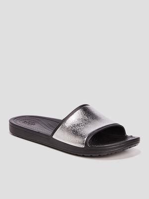 Claquettes Crocs noir femme