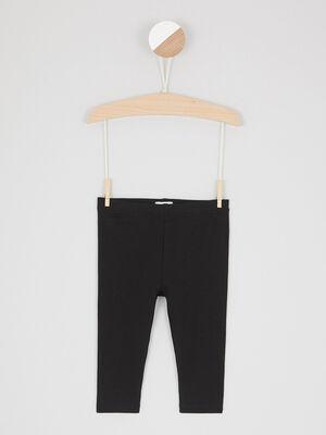 Legging uni coton majoritaire noir fille