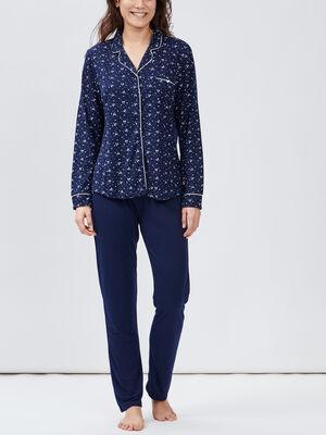 Chemise en jean bleu marine femme