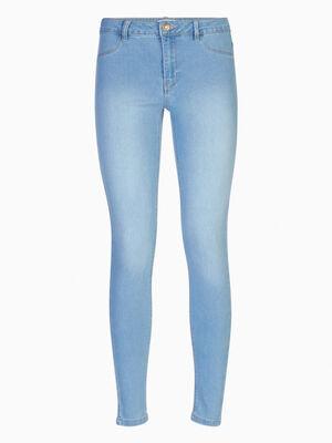 Jean skinny 5 poches uni denim double stone femme