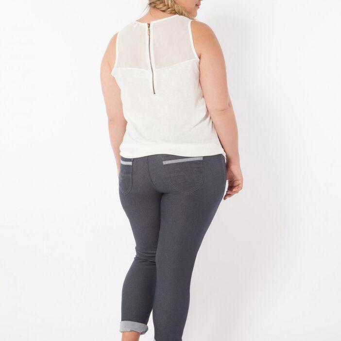 Pantalon slim 5 poches femme bordeaux