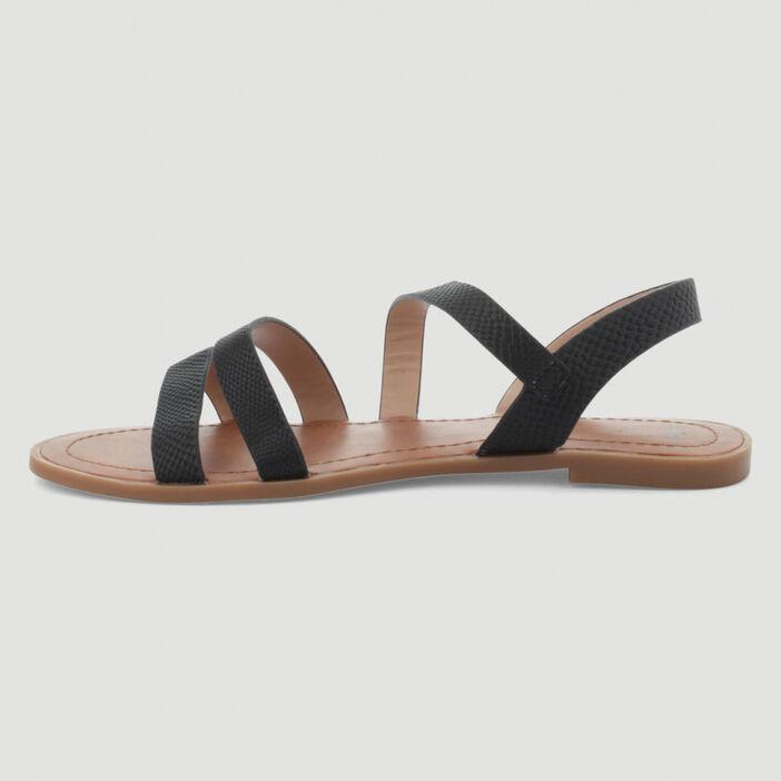 Sandales grecques à brides femme noir