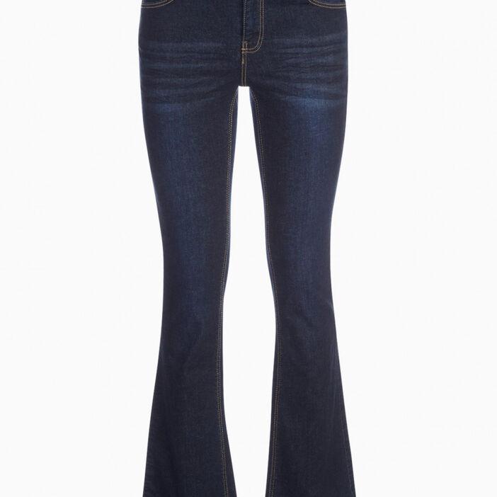 Jean bootcut taille basse femme denim brut