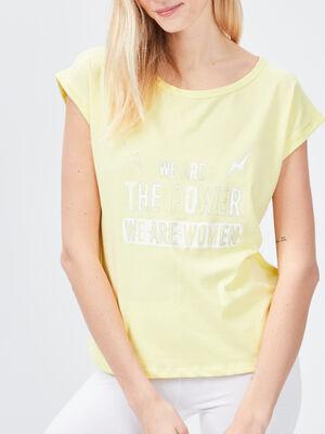 Haut de pyjama Liberto jaune femme