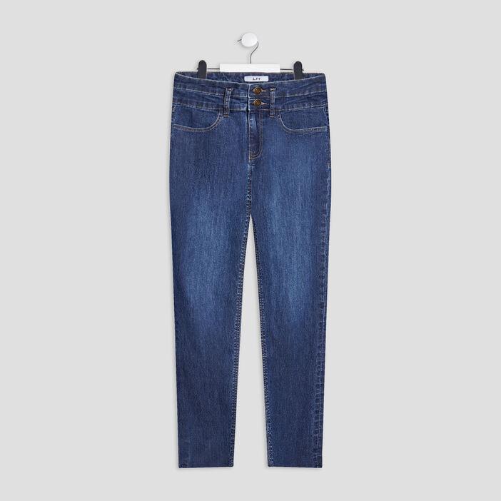 Jeans regular fille denim brut