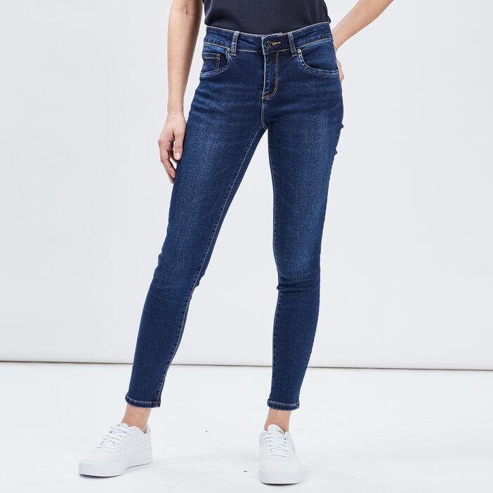 Jeans skinny 7/8ème femme denim brut