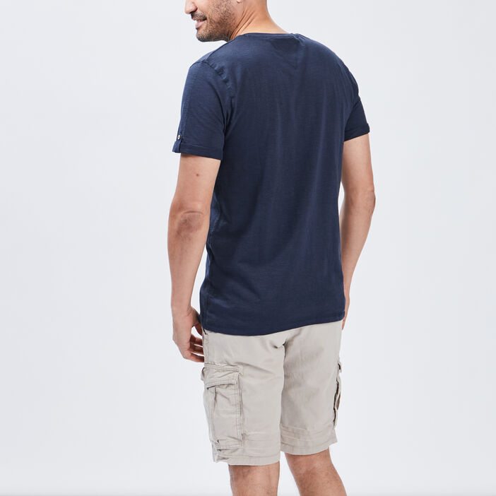 T-shirt Trappeur homme bleu marine