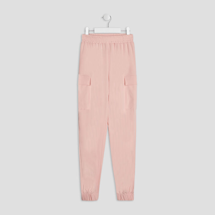 Pantalon battle fille rose
