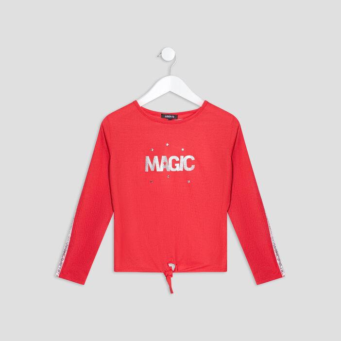 T-shirt Liberto fille rouge