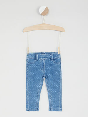 Pantalon esprit denim imprime pois denim double stone bebef