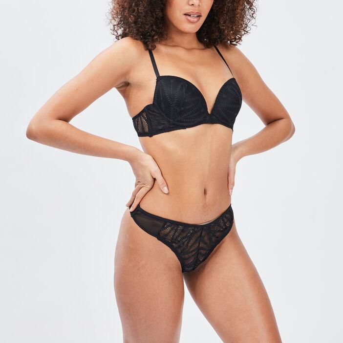 Soutien-gorge balconnet femme noir