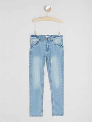 Jean slim poches rivetees denim double stone garcon