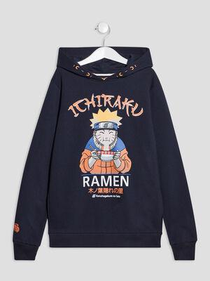 Sweat a capuche Naruto bleu marine garcon