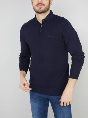 Pull bleu marine homme