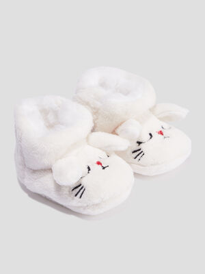 Chaussons bottines blanc mixte