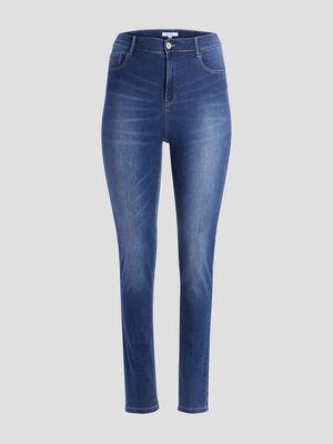 Jeans slim taille ajustable denim brut femmegt