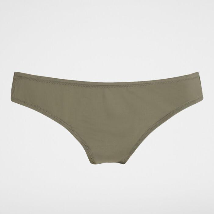 Culotte unie voile femme vert kaki
