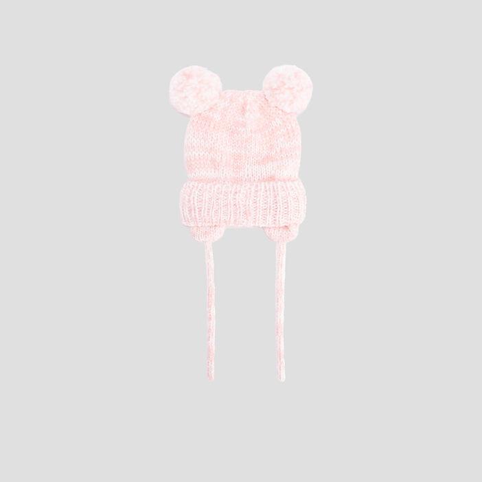 Bonnet péruvien bébé fille rose