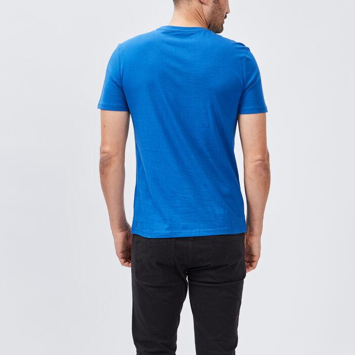 T-shirt manches courtes homme bleu