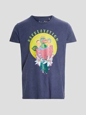 T shirt Rick et Morty violet homme