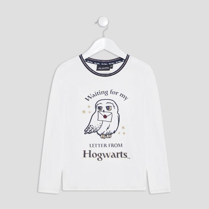 T-shirt Harry Potter fille ecru