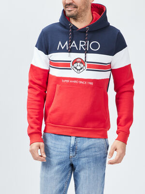 Sweat a capuche Mario multicolore homme
