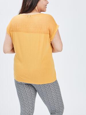 T shirt jaune moutarde femmegt