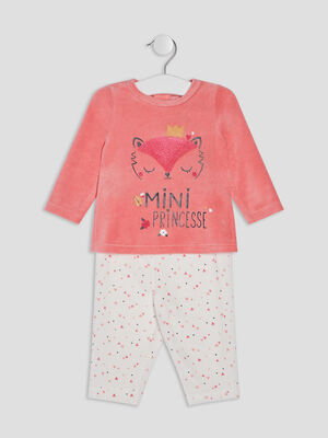 Ensemble pyjama 2 pieces rose bebef