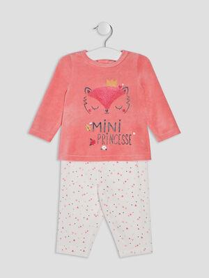 Ensemble pyjama 2 pieces rose bebef