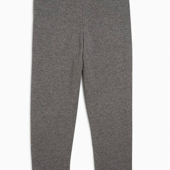 Pantalon jogging uni avec lacet garçon gris