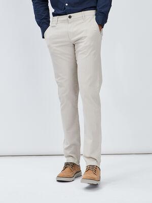 Pantalon regular beige homme
