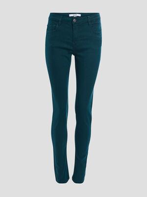 Pantalon slim vert emeraude femme