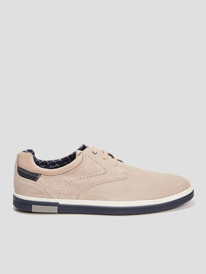 Derbies en cuir Creeks beige homme
