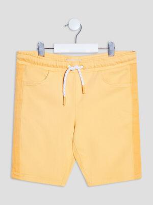 Short droit jaune garcon