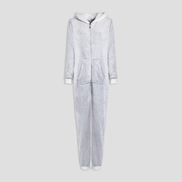 Combinaison de pyjama femme gris