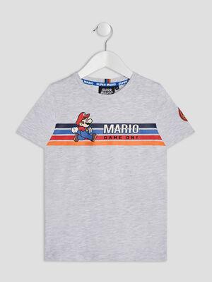 T shirt manches courtes Mario gris garcon
