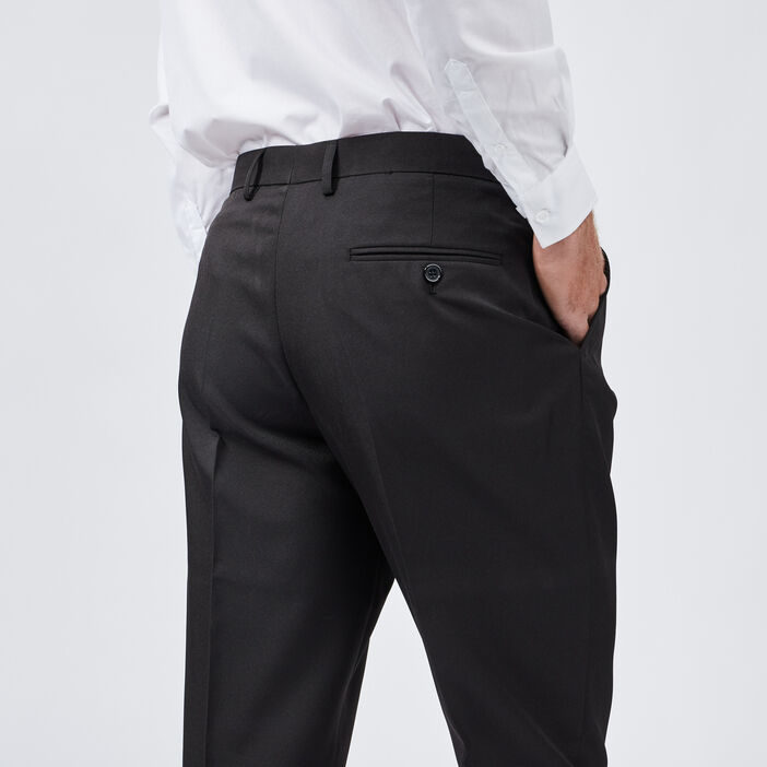 Pantalon droit avec pinces homme noir