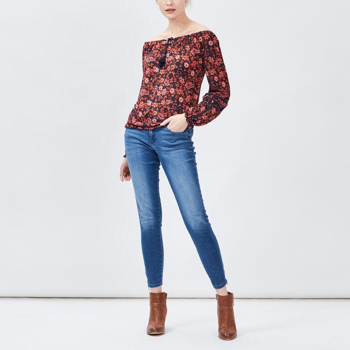 T-shirt manches longues Creeks femme rose