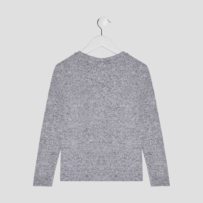 Pull Harry Potter fille gris clair