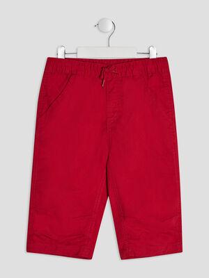 Bermuda slim rouge garcon