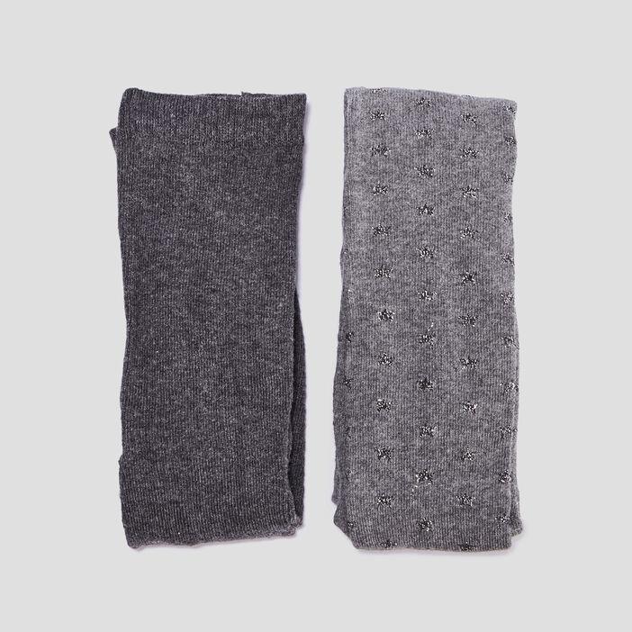 Collants fille gris