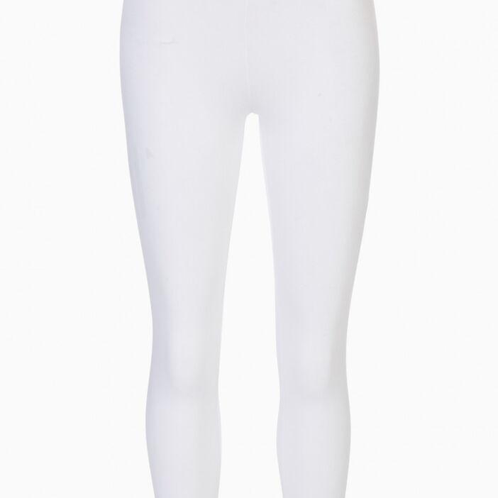 Legging 7/8e uni femme blanc