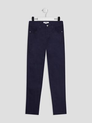 Pantalon skinny bleu marine fille