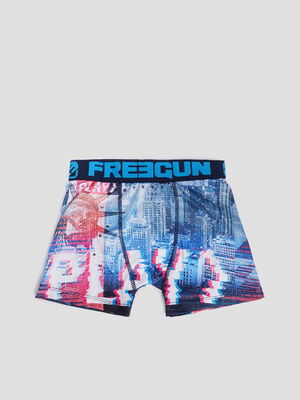 Boxer Freegun bleu garcon