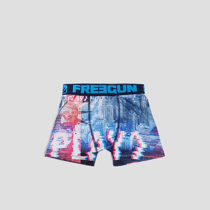 Boxer Freegun garçon bleu